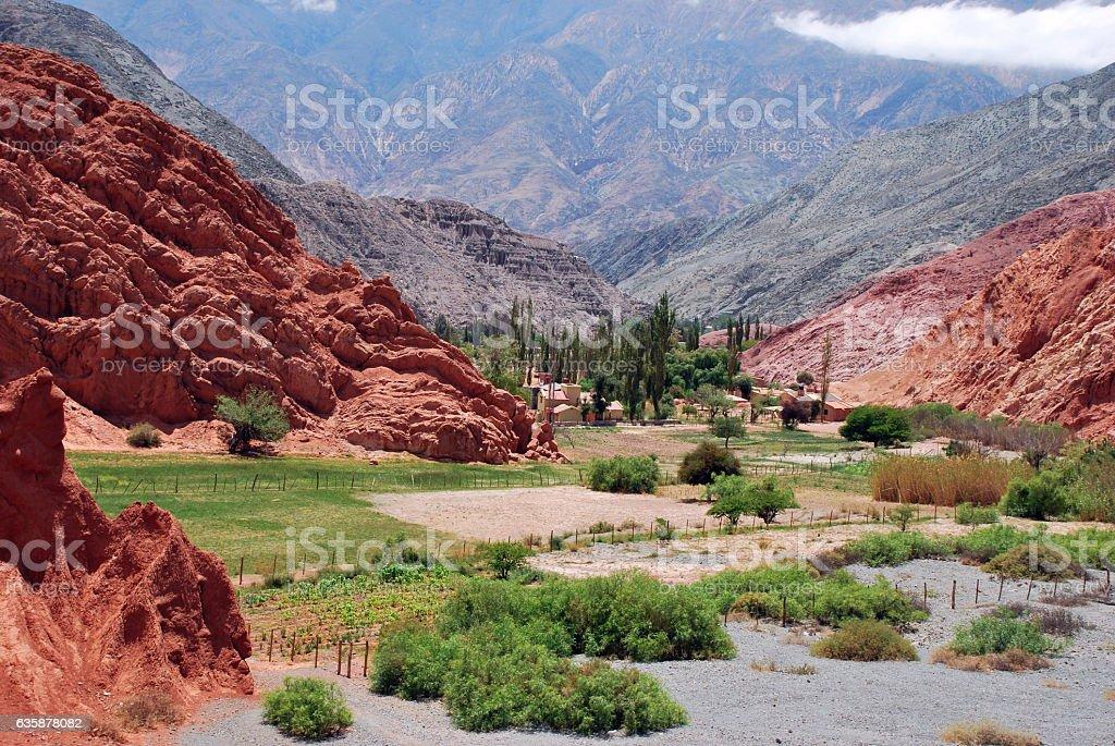 Pumamarca Landscape stock photo