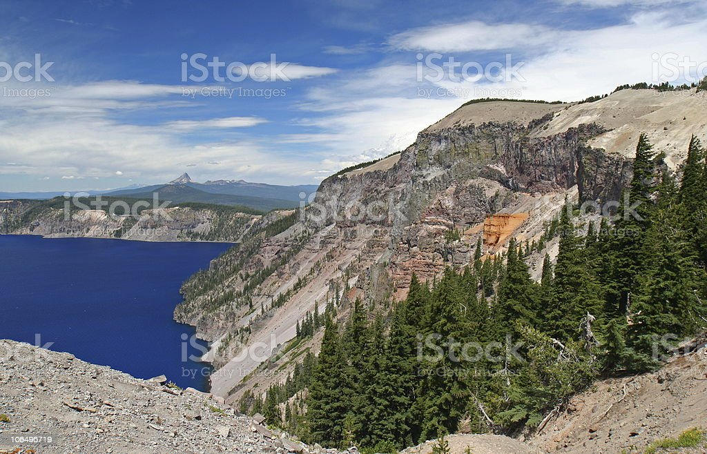 Pumice Castle and Crater Lake, Oregon stock photo