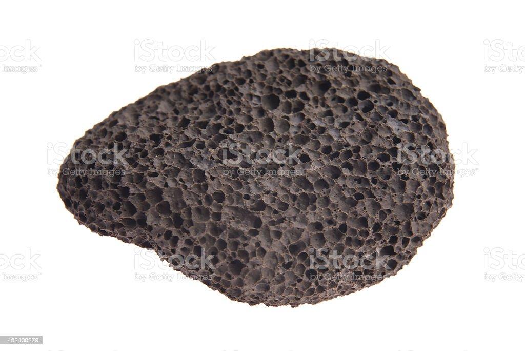 Pumice stone isolated on white background stock photo
