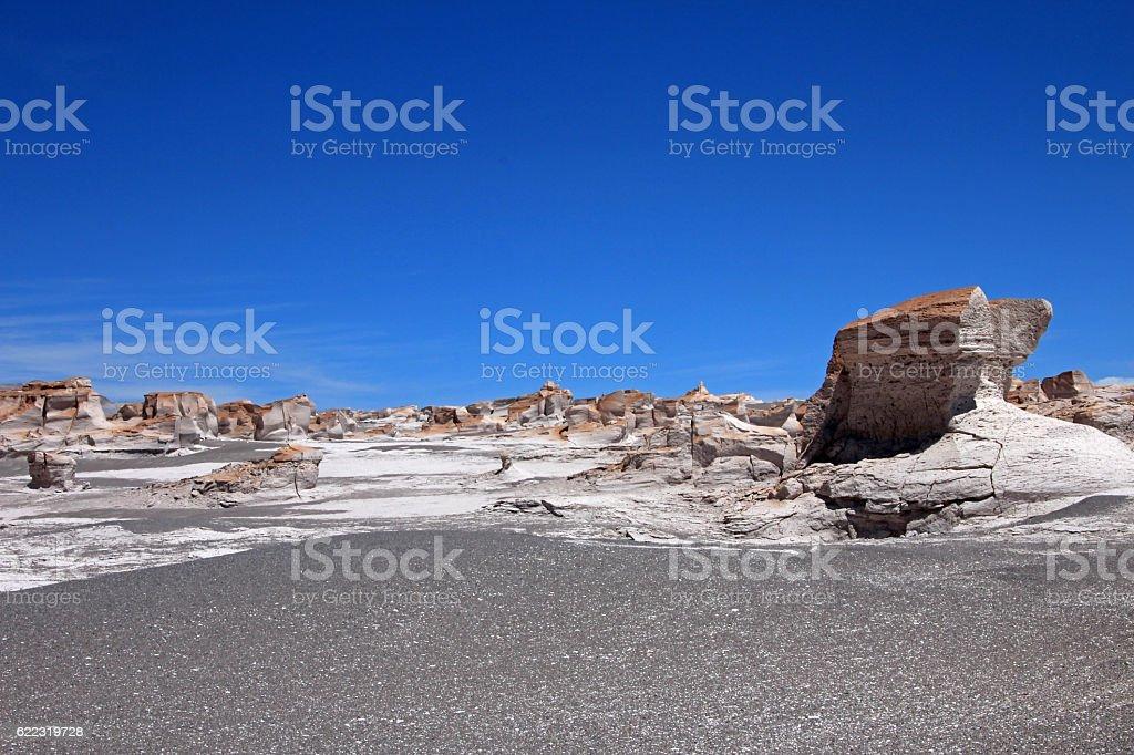 Pumice stones at Campo de Piedra Pomez, Catamarca, Argentina stock photo