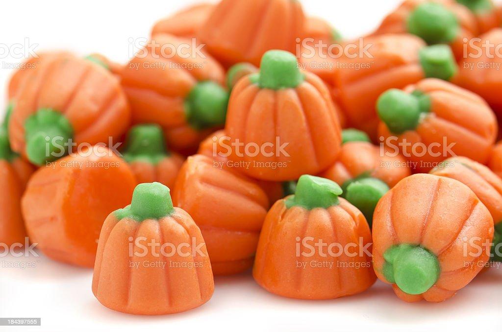 Pumkin candies stock photo