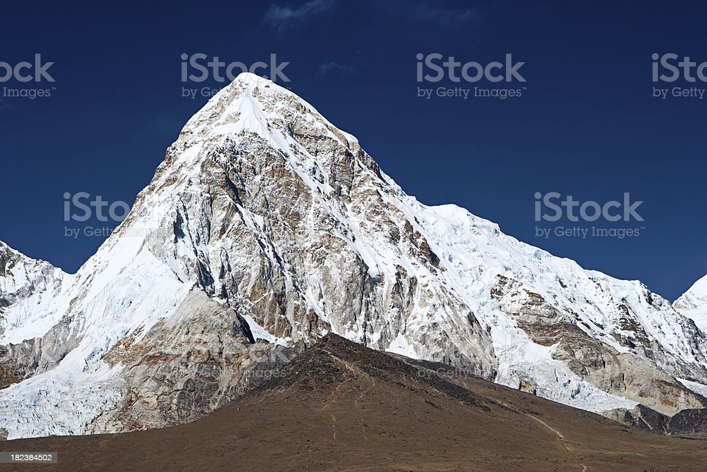 Pumo Ri and  Kala Pattar, Mount Everest National Park royalty-free stock photo
