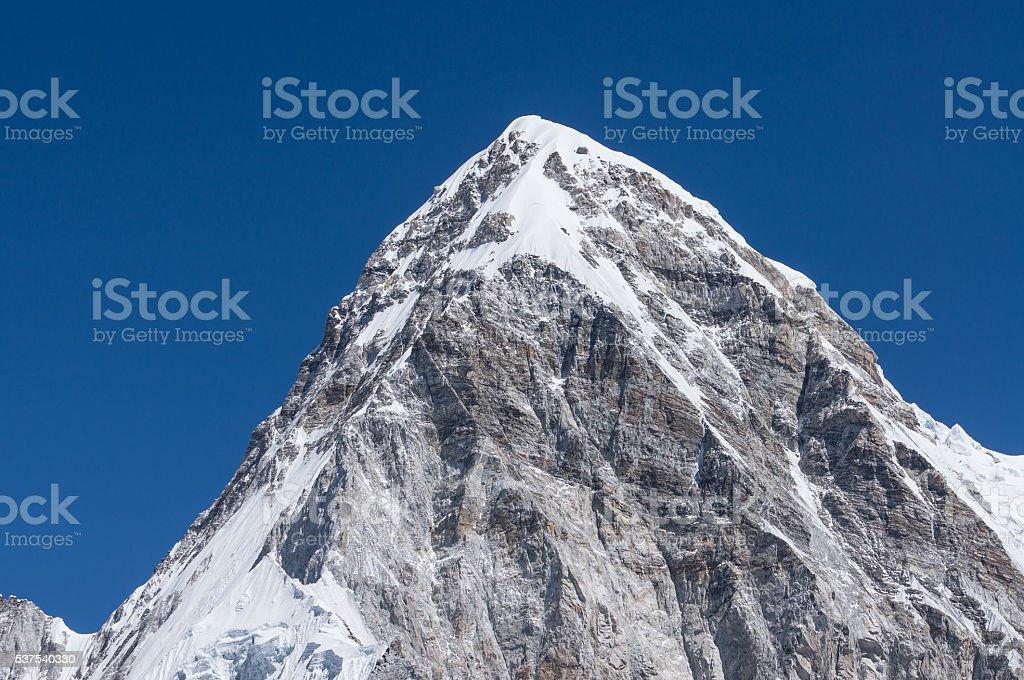 Pumori mountain peak, Everest region stock photo