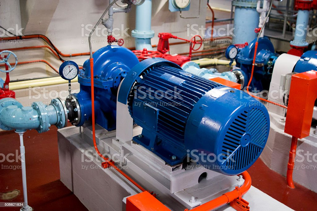 Pump And Motor stock photo