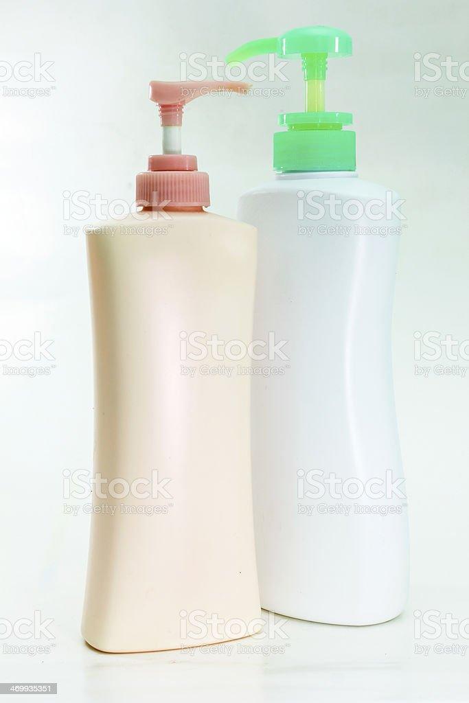 Pump bottle isolated on white background royalty-free stock photo