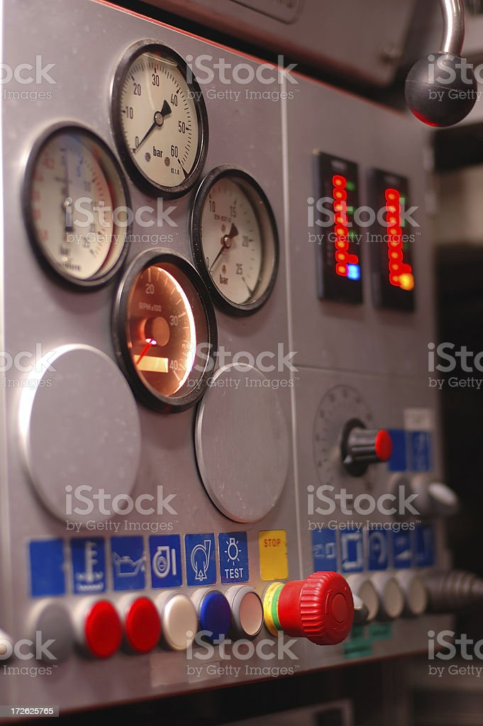 Pump control panel royalty-free stock photo