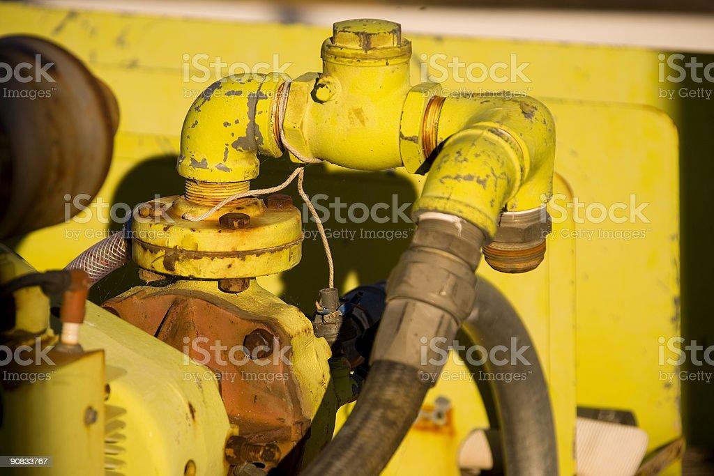 pump dettagli in giallo foto stock royalty-free