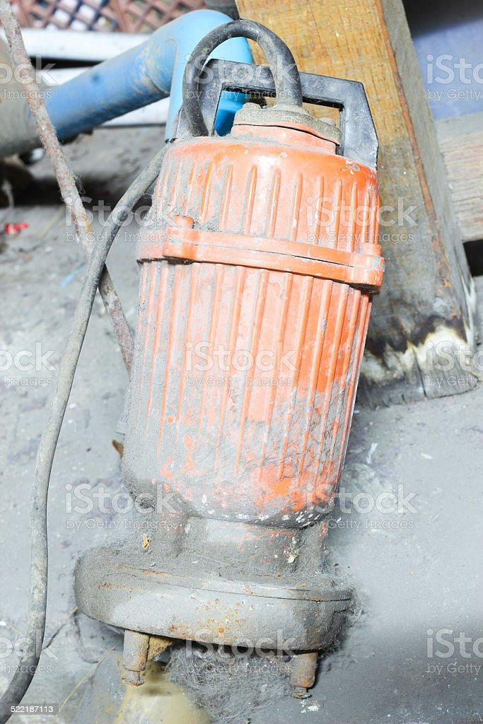 pump drainage stock photo