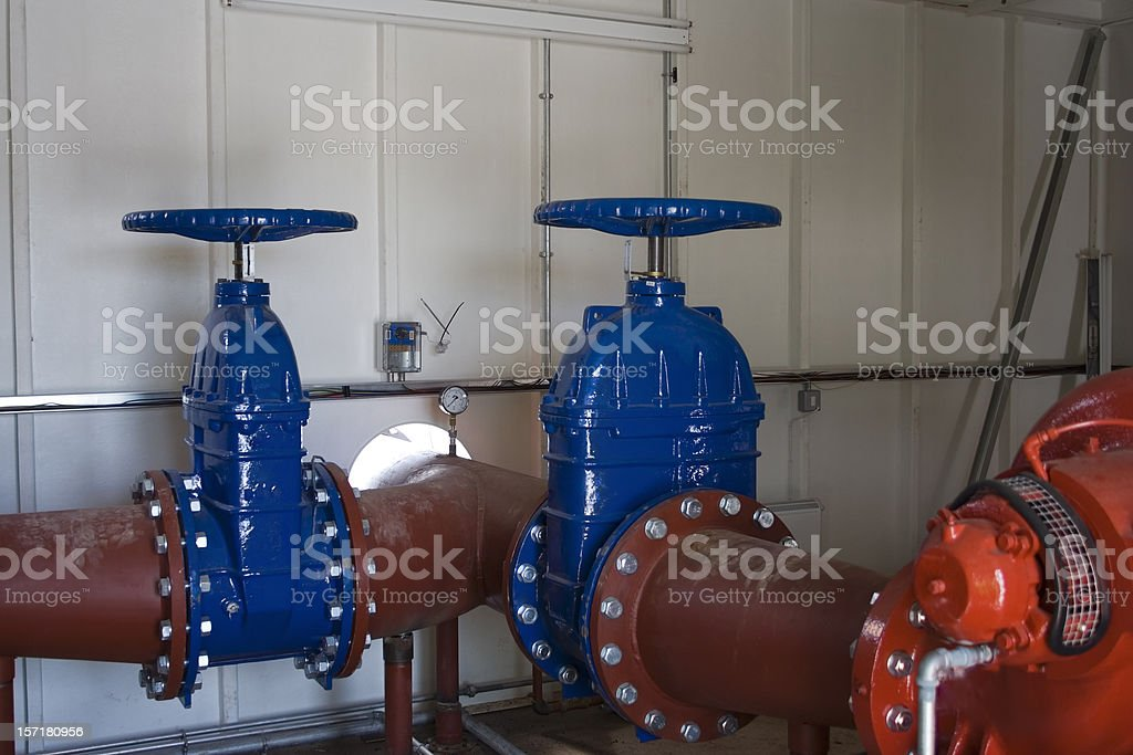 Pump house royalty-free stock photo