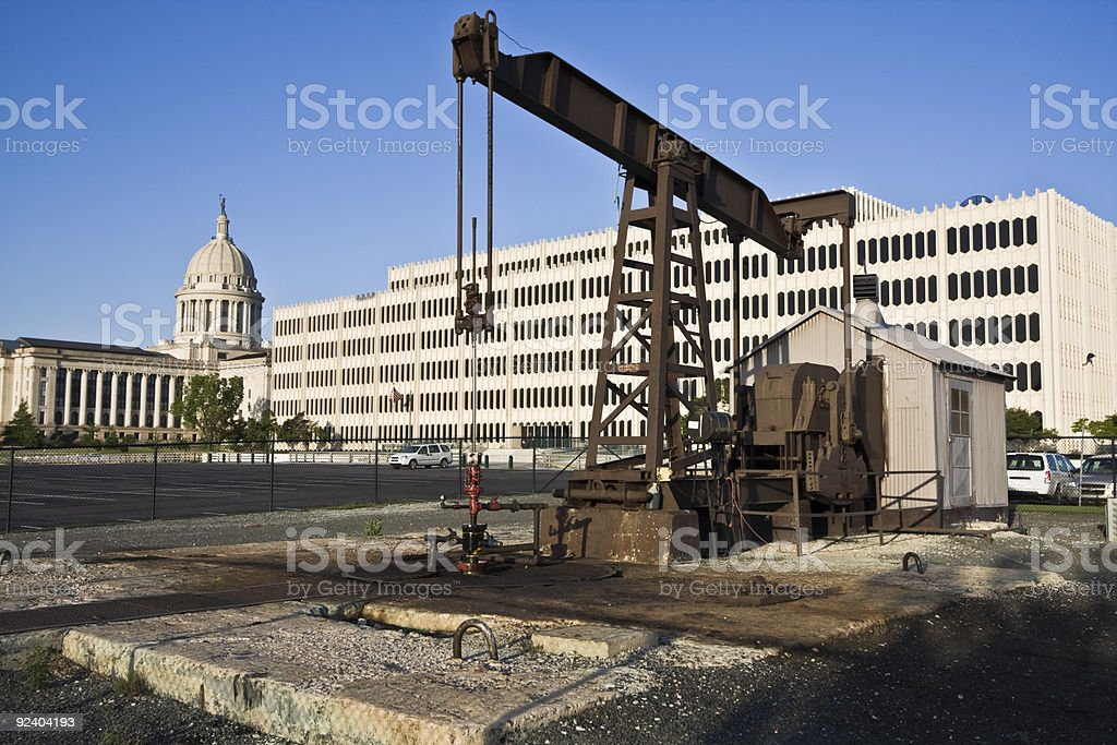 Pump in Oklahoma City royalty-free stock photo