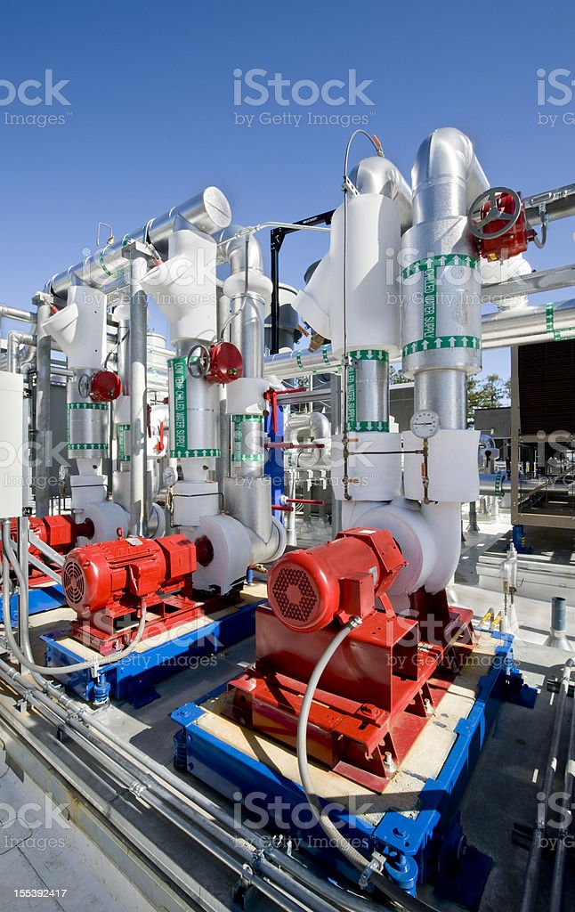 Pump Installation for HVAC System royalty-free stock photo
