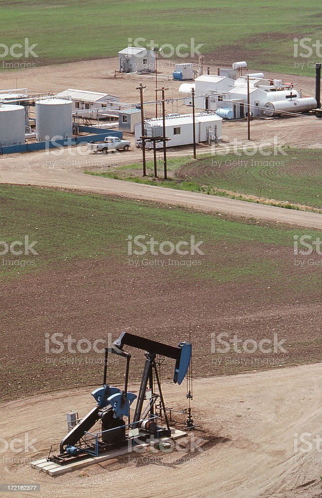Pump Jack and Battery royalty-free stock photo