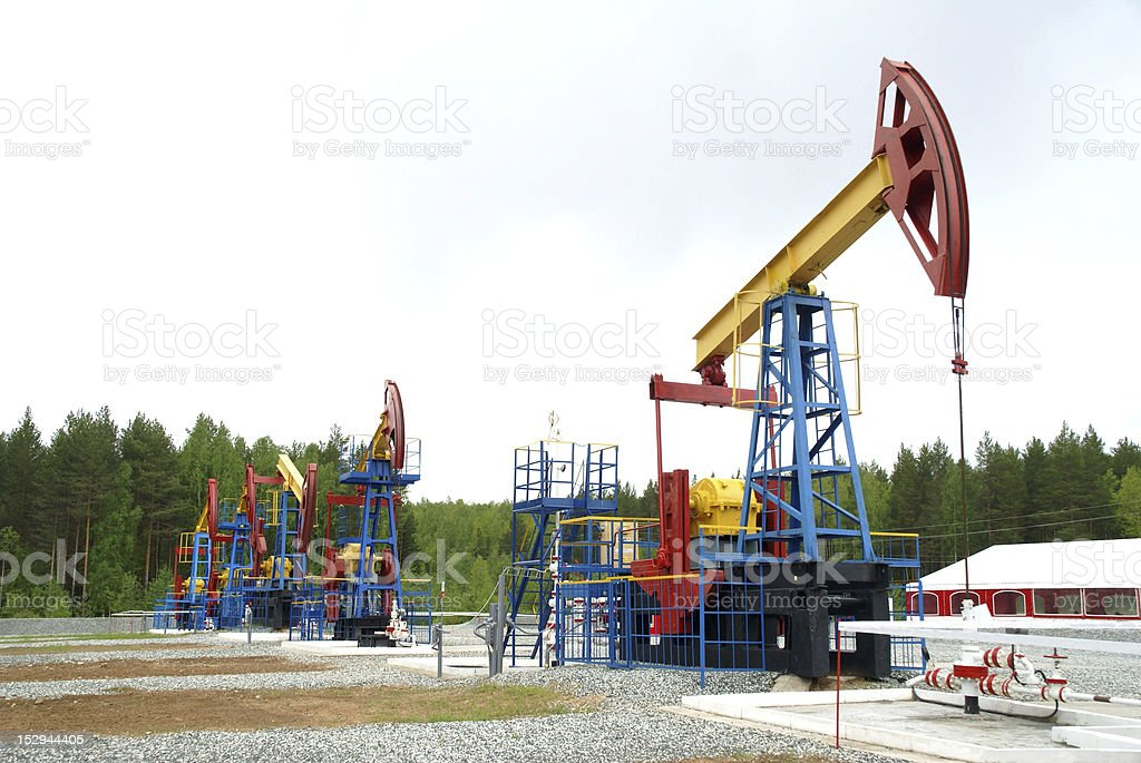 Pump jack, oil industry royalty-free stock photo