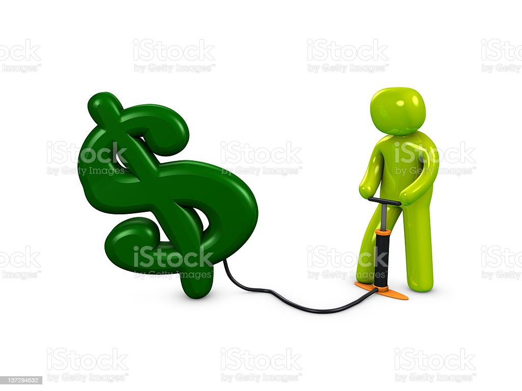 Pump my dollar royalty-free stock vector art