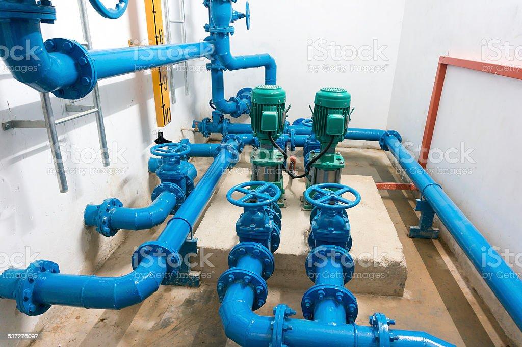Pump room stock photo