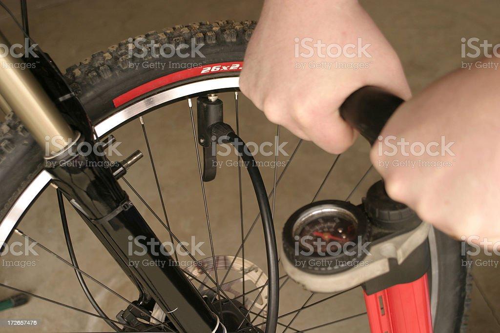 Pump Tire stock photo