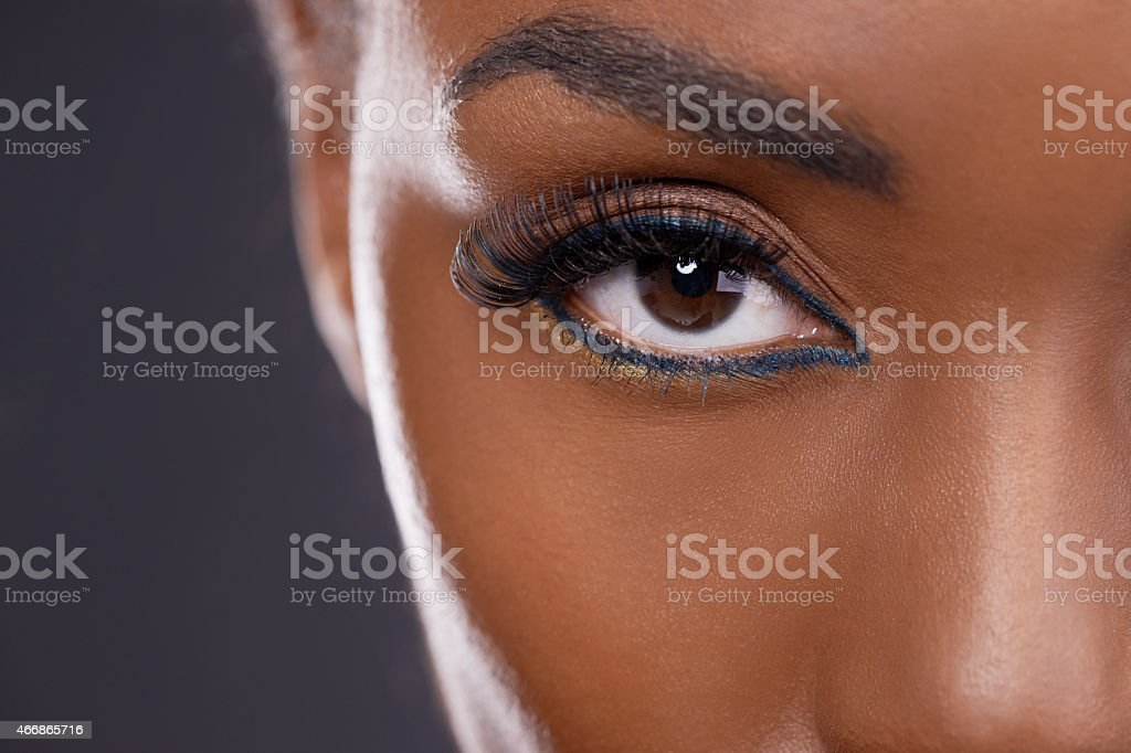 Pump up your eyes stock photo