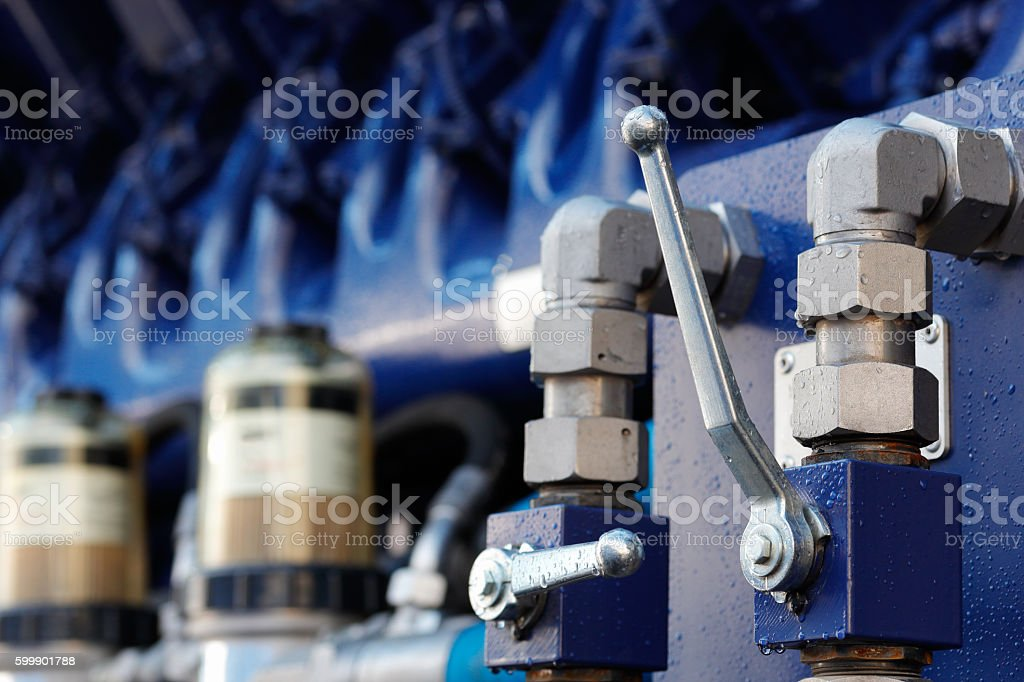 pump with ball valves stock photo
