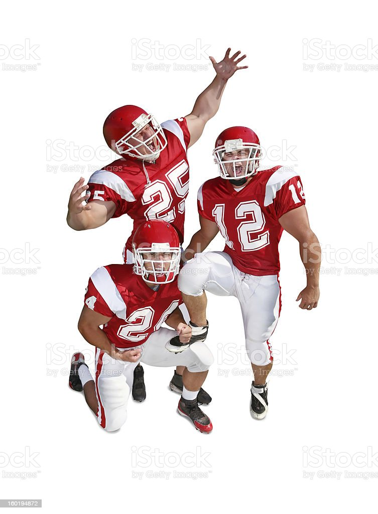 Pumped Up Football Players with Clipping Path royalty-free stock photo