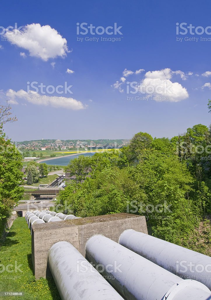 Pumped-storage power station, Niederwartha, Germany, built 1927-30 stock photo