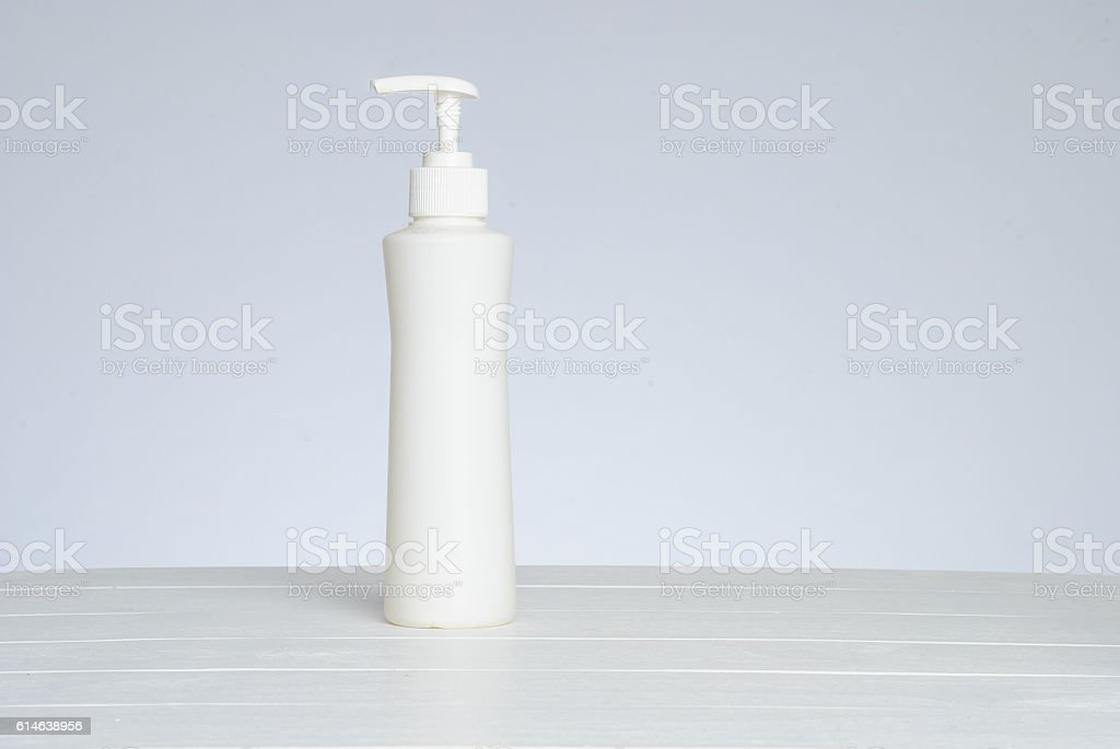 Pumper dispenser of shampoo ,soap baht stock photo