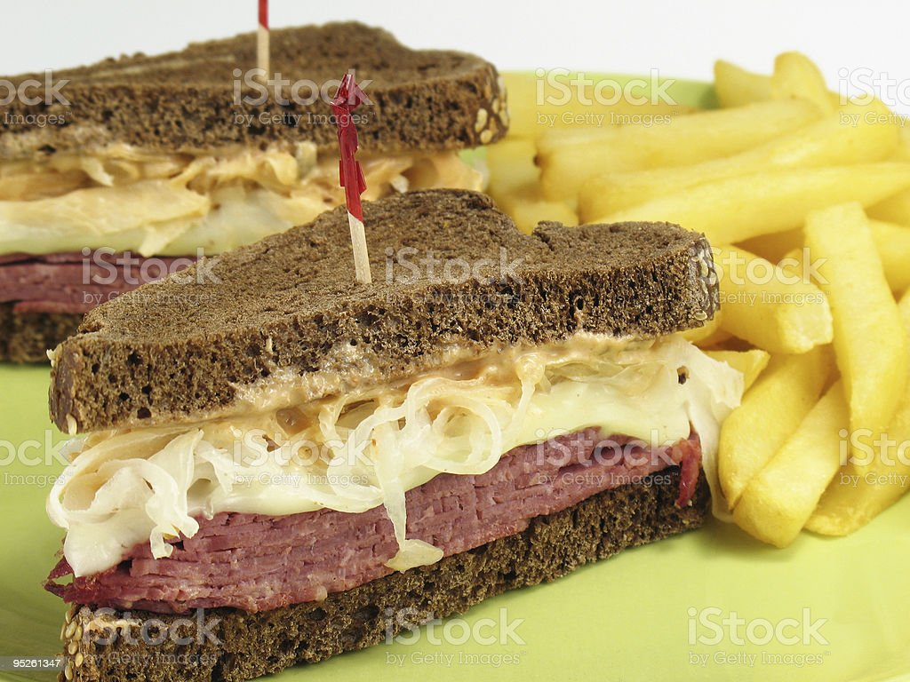 Pumpernickel Reuben royalty-free stock photo