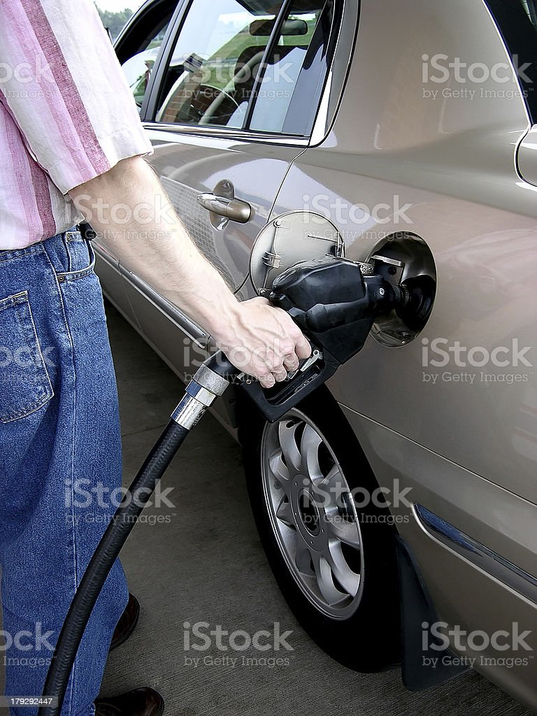 Pumping Gas (2) royalty-free stock photo