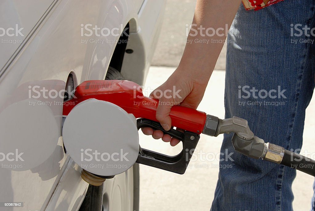 Pumping Gas royalty-free stock photo