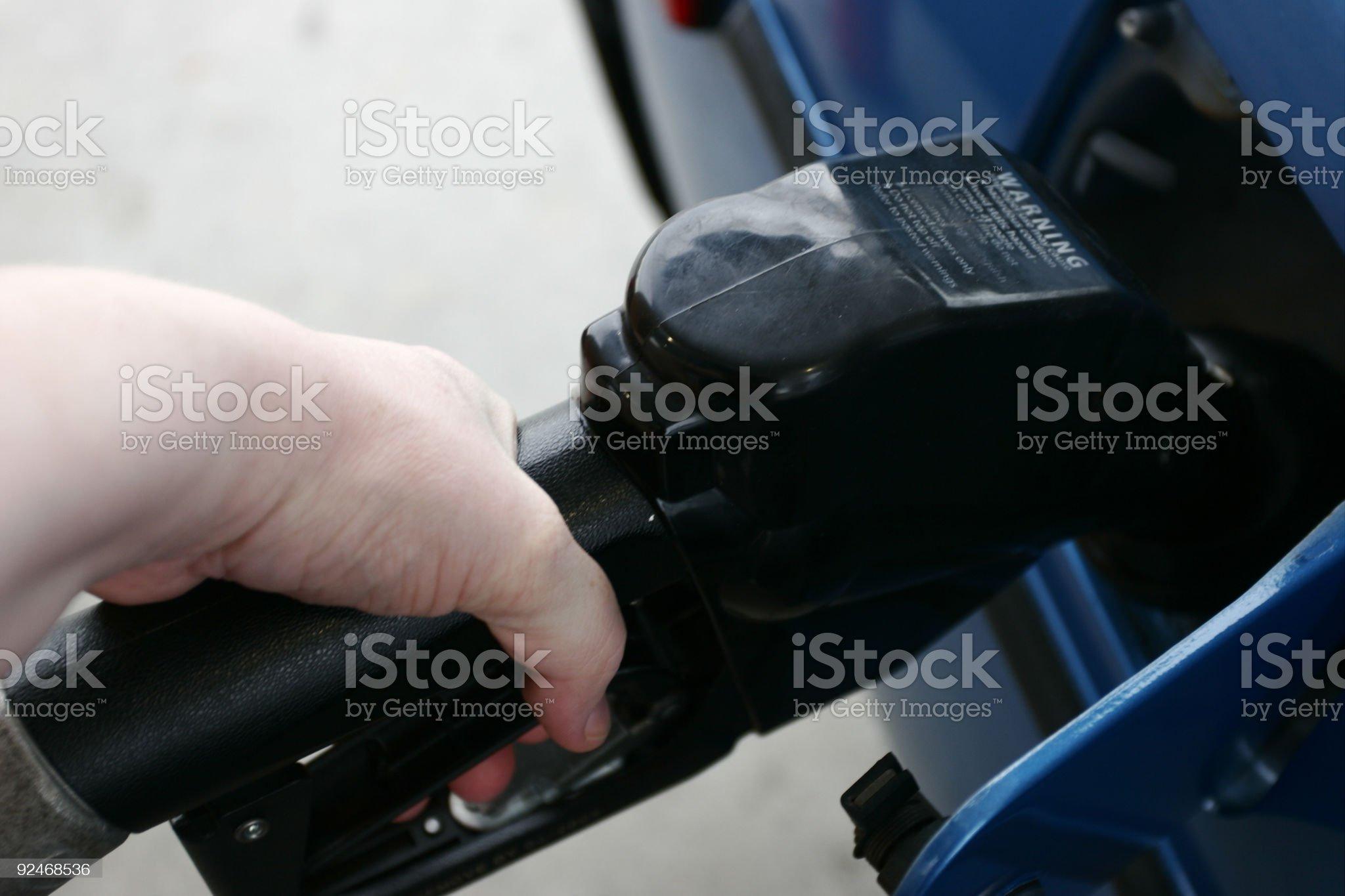 Pumping Gas royalty-free stock photo