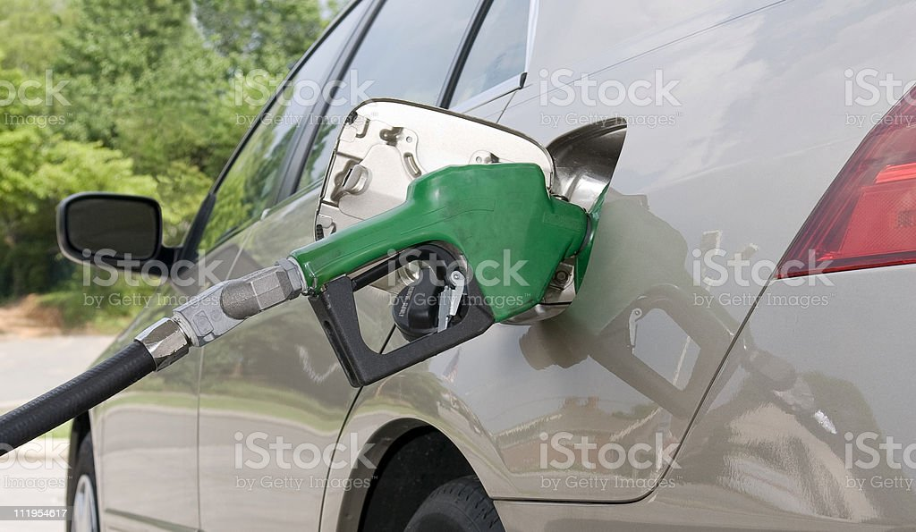 Pumping Gasoline royalty-free stock photo