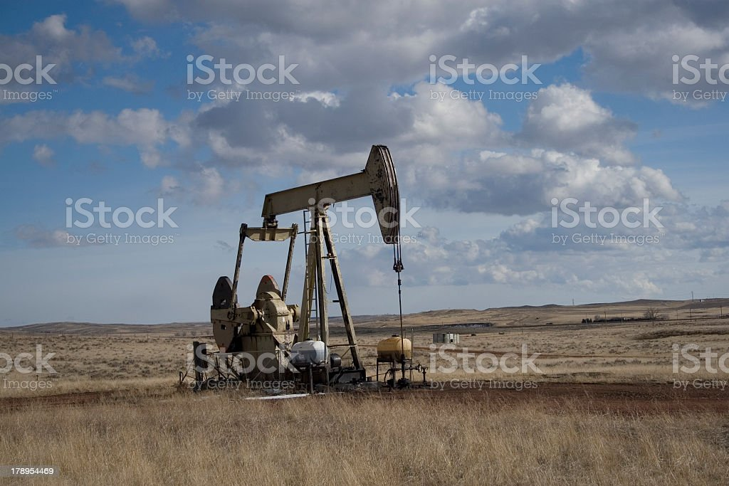 pumping oil royalty-free stock photo