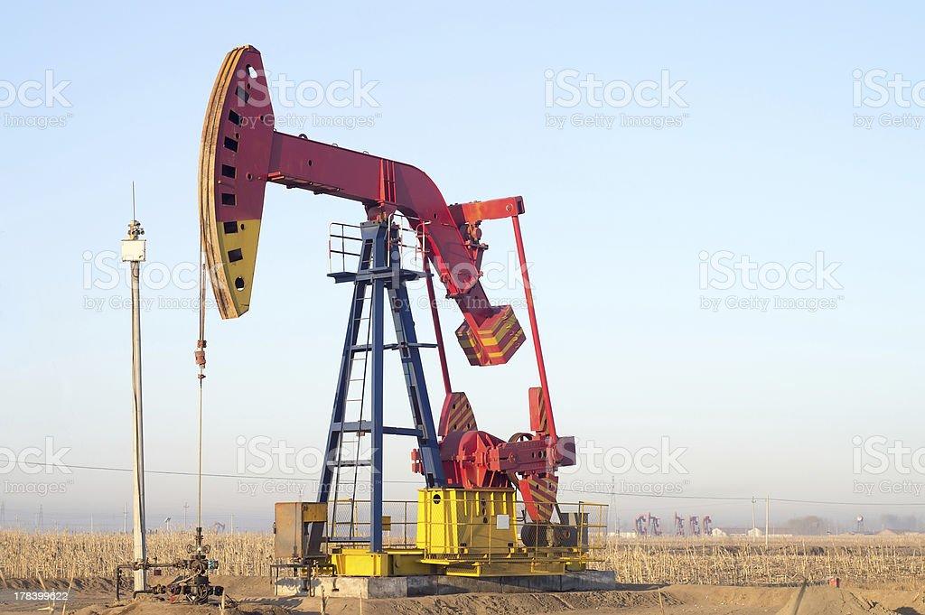 Pumping unit royalty-free stock photo