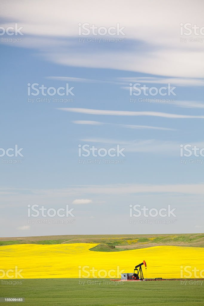Pumpjack and Blue Sky royalty-free stock photo