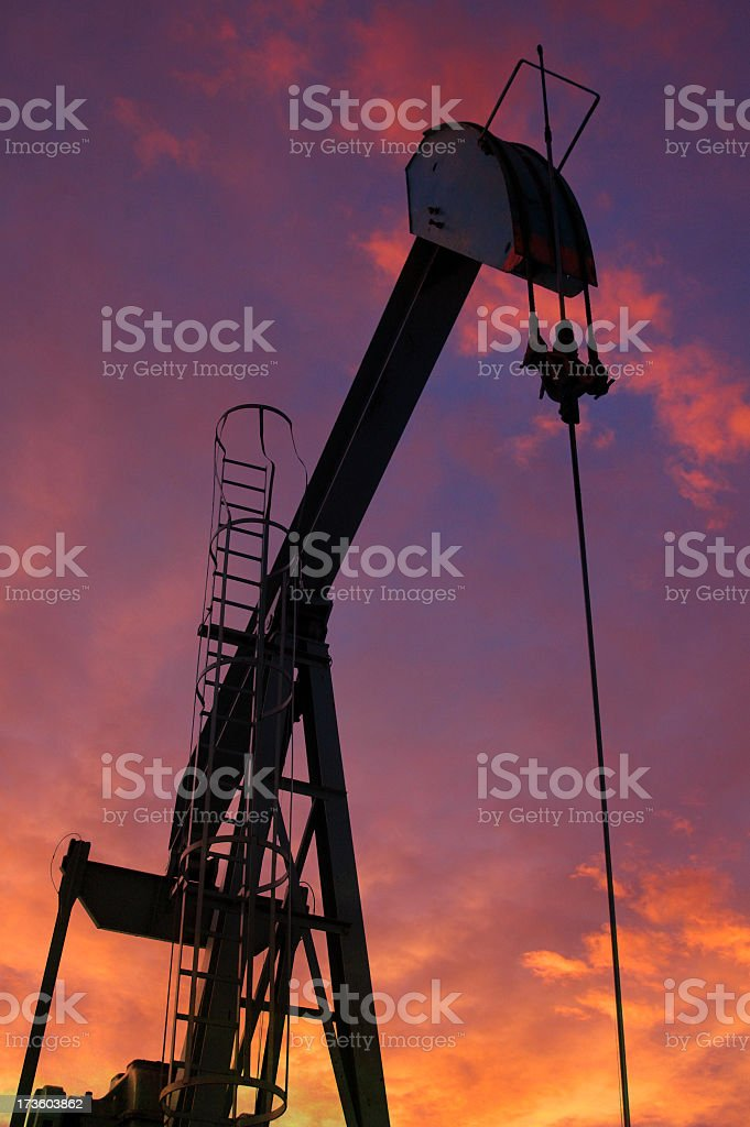 Pumpjack at Dawn royalty-free stock photo