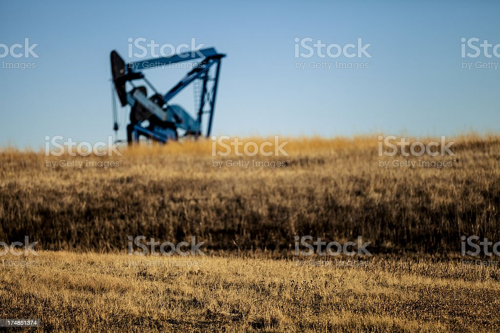 Pumpjack In A Field royalty-free stock photo