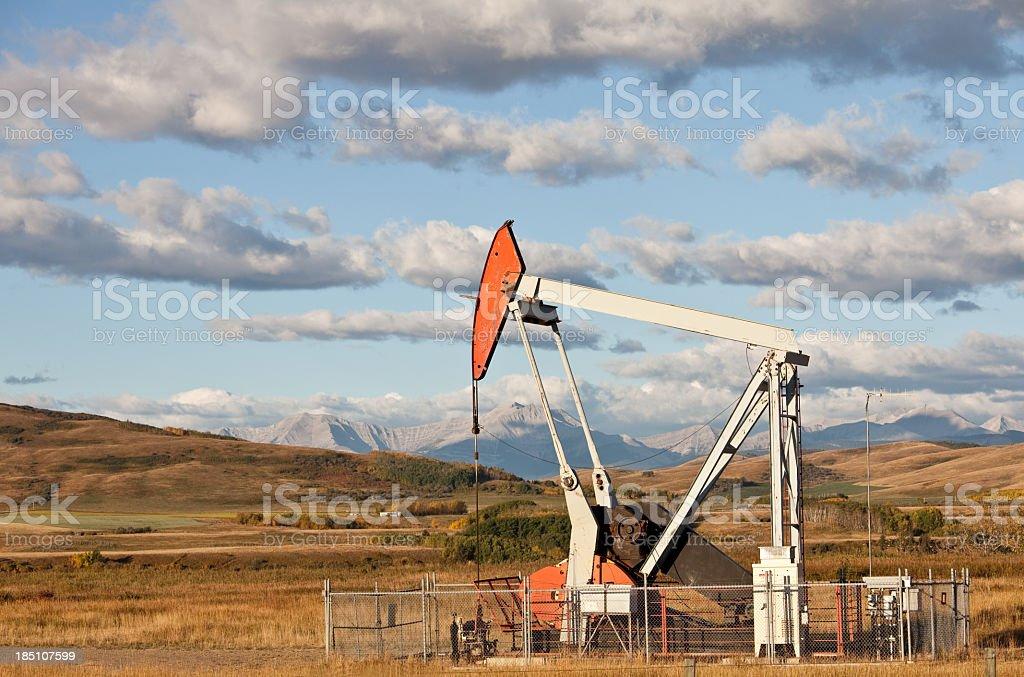 Pumpjack in Alberta stock photo