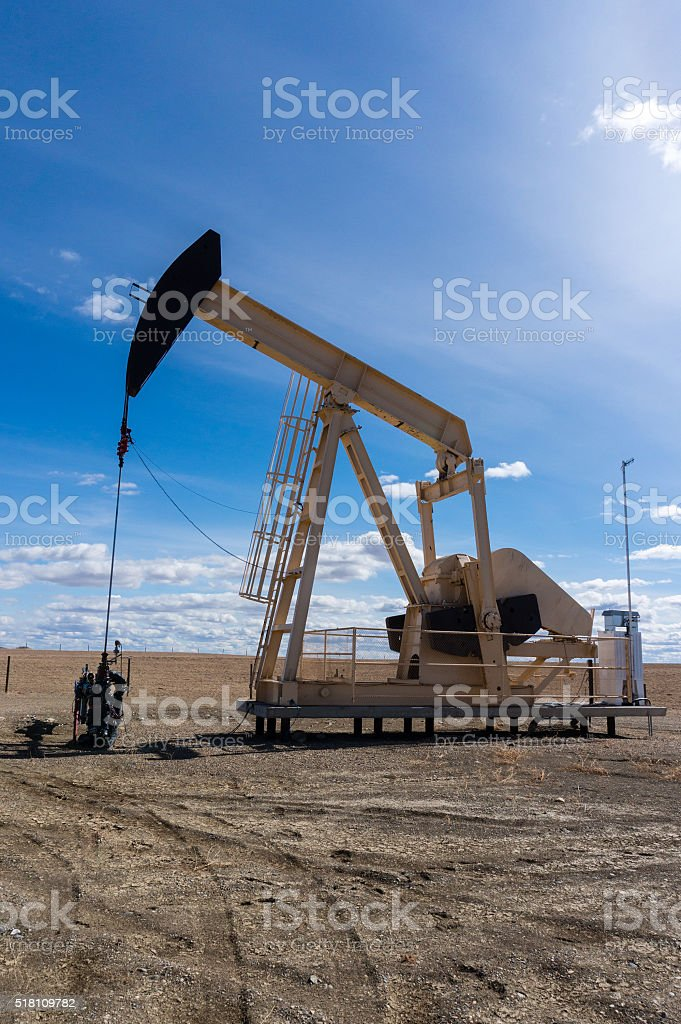 Pumpjack in Rural Alberta, Canada stock photo