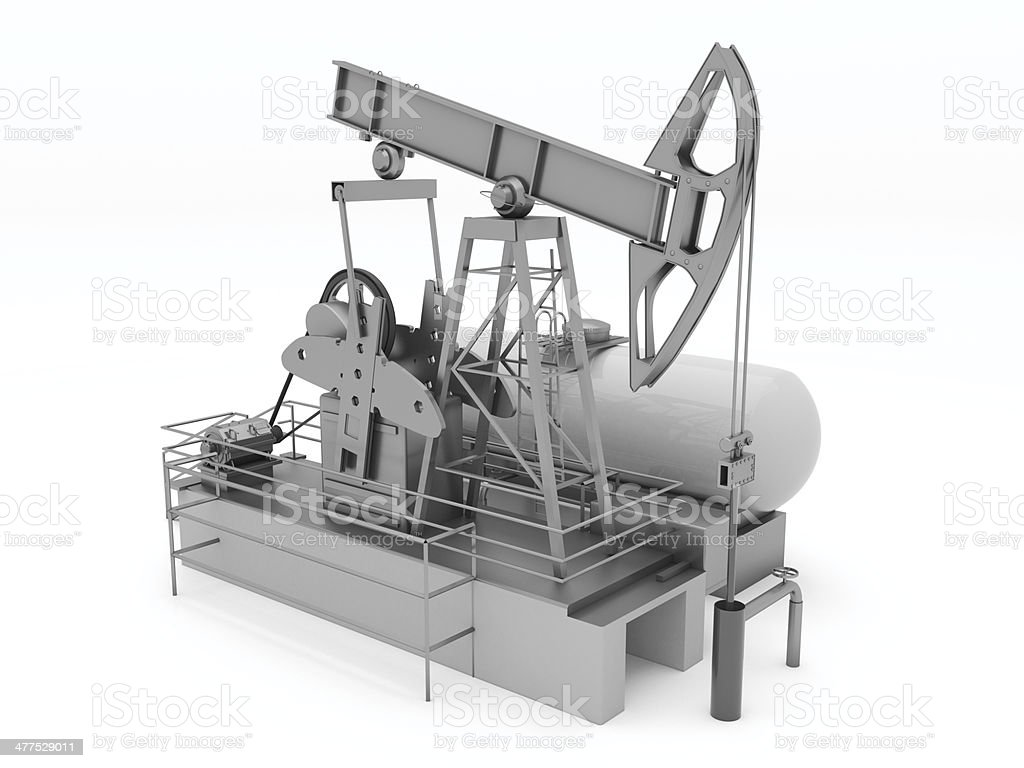 Pumpjack isolated royalty-free stock photo