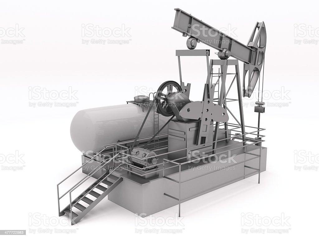 Pumpjack isolated stock photo