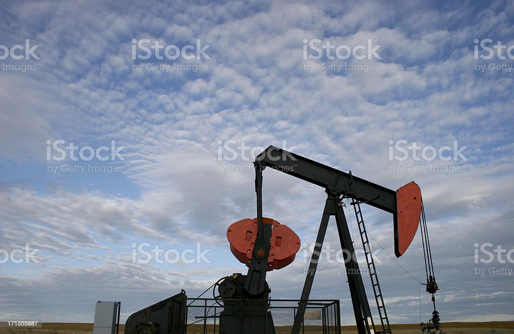 Pumpjack on the Plains stock photo