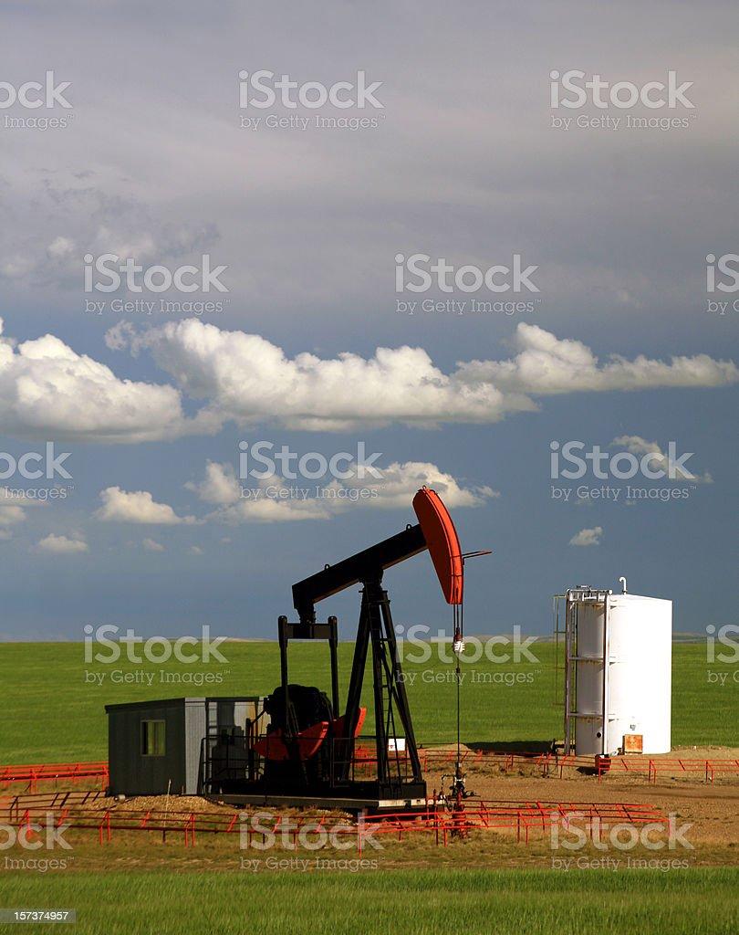 Pumpjack on the Prairie royalty-free stock photo