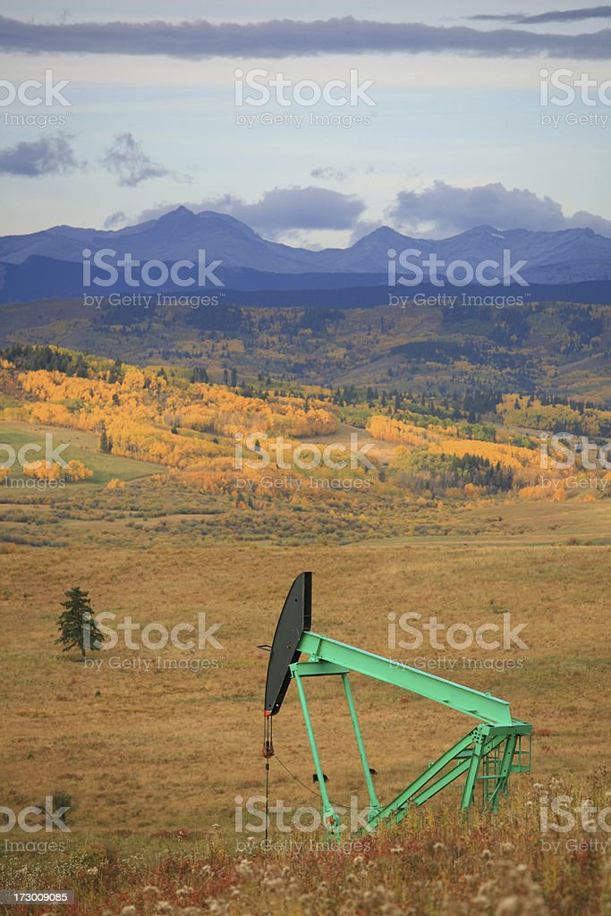 Pumpjack royalty-free stock photo