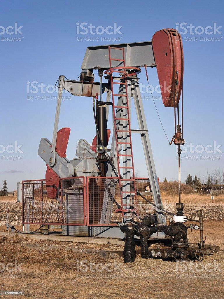 pumpjack royalty-free stock photo