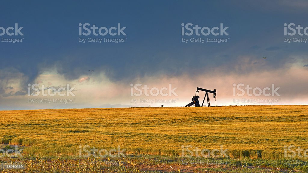 Pumpjack stock photo