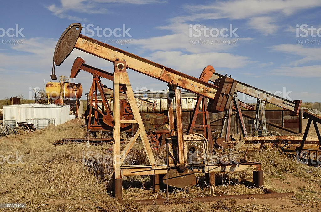 Pumpjack stock photo