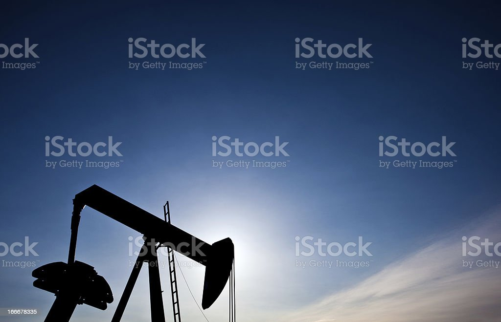 Pumpjack Silhouette royalty-free stock photo