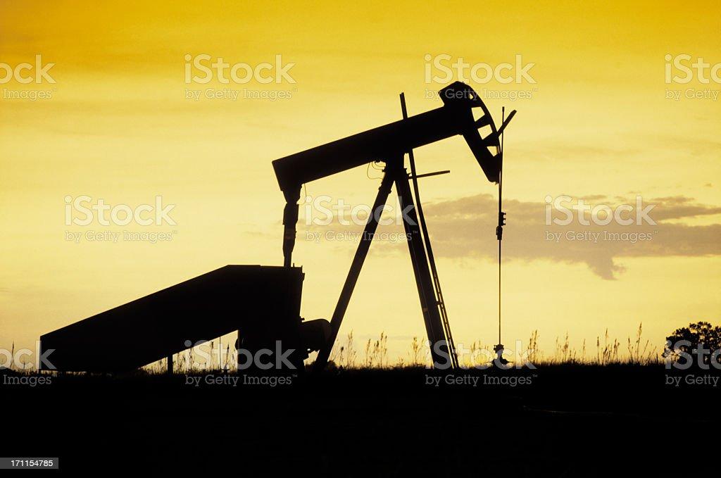 Pumpjack silhouette royalty-free stock photo