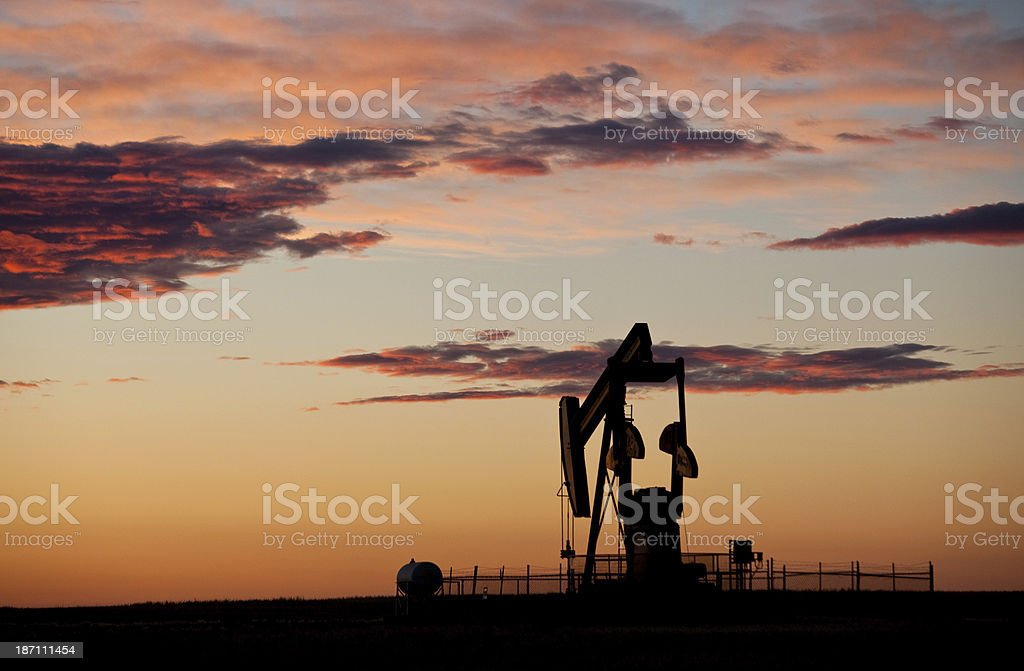 Pumpjack Silhouette stock photo