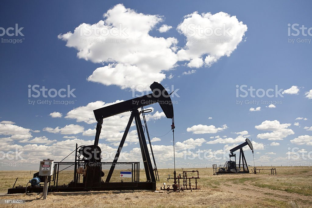 Pumpjacks royalty-free stock photo