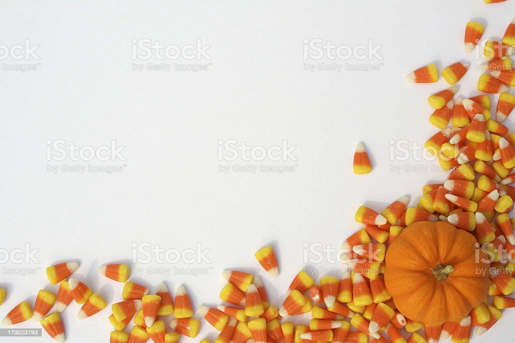 Pumpkin and Candy Corns 1 stock photo